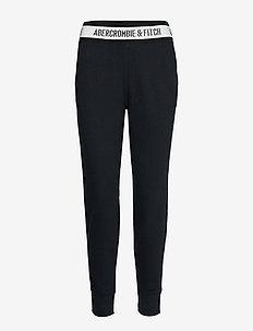 Rib Waist Jogger - sweatpants - black dd