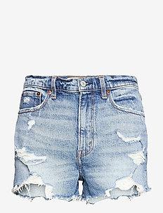 ANF WOMENS SHORTS - jeansshorts - medium destroy hr mom