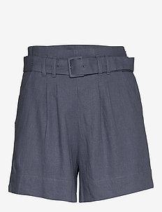 Linen City Short Grisalle - paper bag shorts - med blue dd