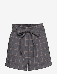 Plaid Shorts - NAVY PATTERN
