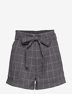 Plaid Shorts - bermudashorts - navy pattern