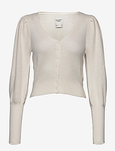 ANF WOMENS SWEATERS - cardigans - white