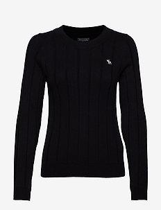 Icon Rib Crewneck Sweater - BLACK DD