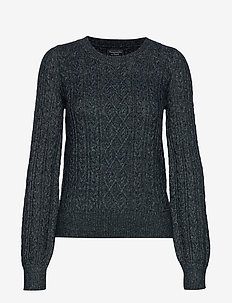 Cable Sweater - NAVY SD/TEXTURE