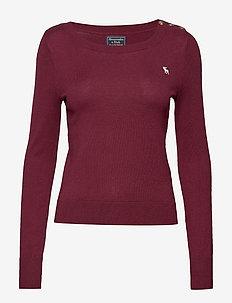 Icon Crewneck Sweater - BURGUNDY SD/TEXTURE