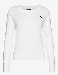 Icon Crewneck Sweater - WHITE
