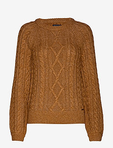 Cable Crewneck - MED BROWN SD/TEXTURE