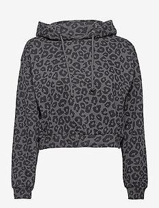 ANF WOMENS SWEATSHIRTS - hoodies - dark grey print