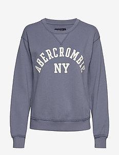 Logo Crewneck Sweatshirt - MED BLUE DD