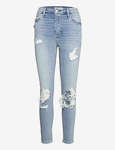 ANF WOMENS JEANS - boyfriend jeans - indigo light destroy