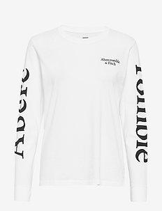 Print Logo Tee - WHITE