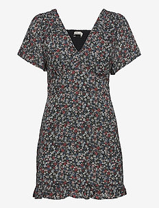 ANF WOMENS DRESSES - summer dresses - black grounded multi floral
