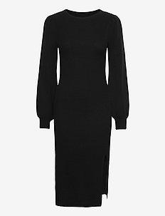 ANF WOMENS DRESSES - stickade klänningar - black dd