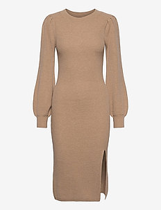 ANF WOMENS DRESSES - stickade klänningar - light brown dd