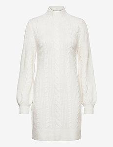 ANF WOMENS DRESSES - neulemekot - white