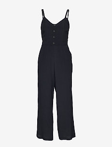 Tie Back Jumpsuit - BLACK DD