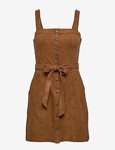 Button Down Dress - LIGHT BROWN DD