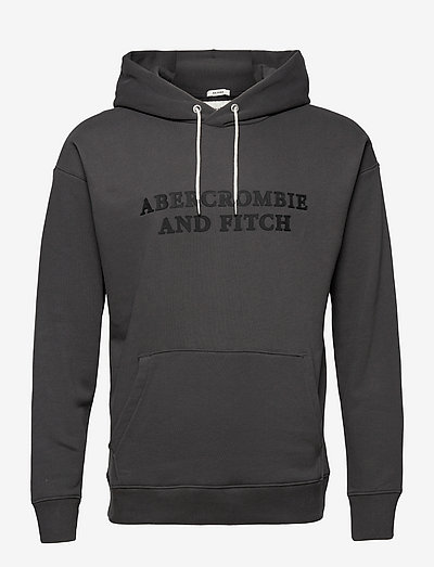 ANF MENS SWEATSHIRTS - kapuzenpullover - black