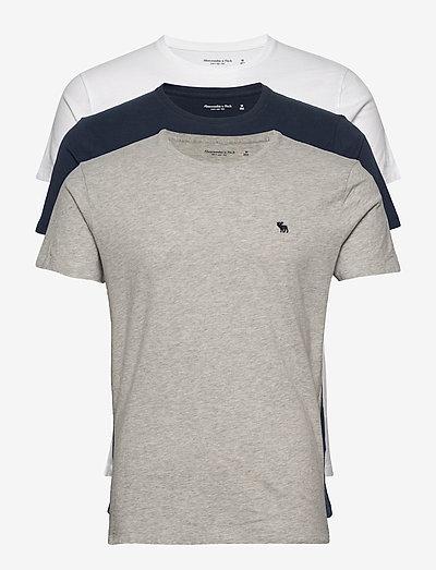 ANF MENS KNITS - basic t-shirts - med grey flat