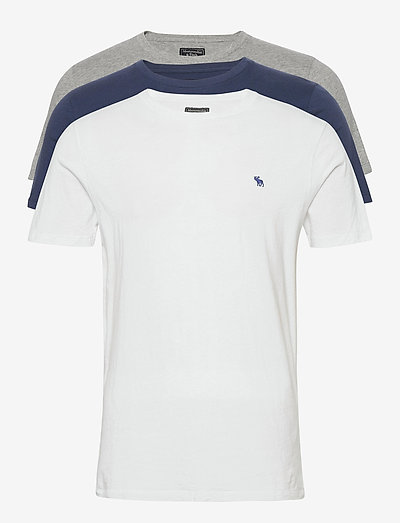 ANF MENS KNITS - basic t-shirts - blue/white/grey