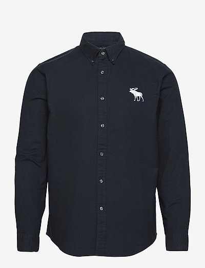 ANF MENS WOVENS - basic-hemden - solid navy large-scale moose icon
