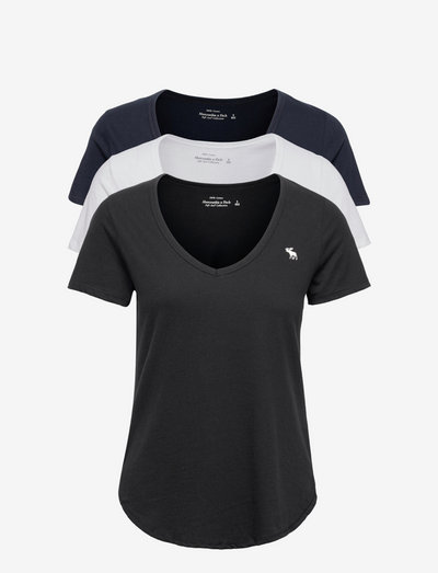 ANF WOMENS KNITS - t-shirts - black/ white/ navy