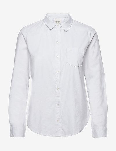ANF WOMENS WOVENS - langermede skjorter - white