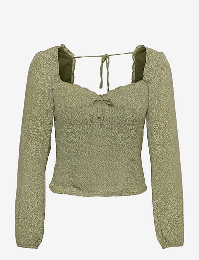 ANF WOMENS WOVENS - langärmlige blusen - green floral