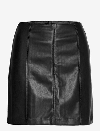 ANF WOMENS SKIRTS - korta kjolar - black leather