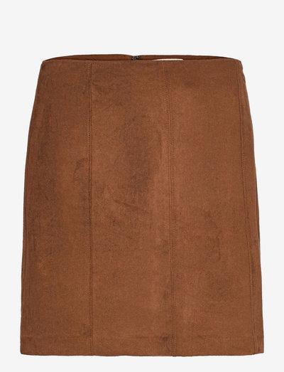 ANF WOMENS SKIRTS - korta kjolar - brown suede