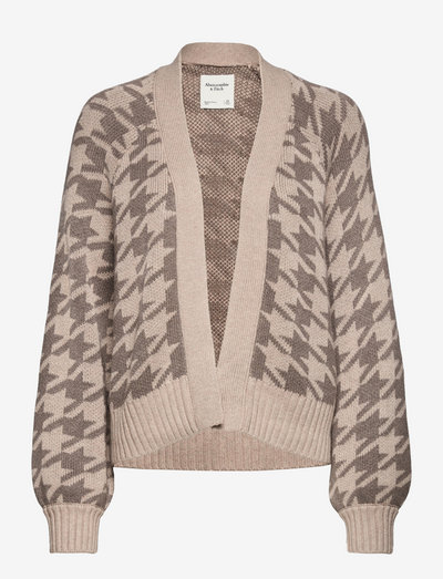 ANF WOMENS SWEATERS - cardigans - houndstooth
