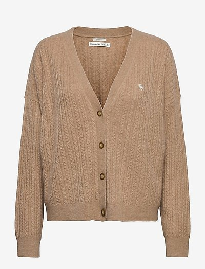 ANF WOMENS SWEATERS - cardigans - brown