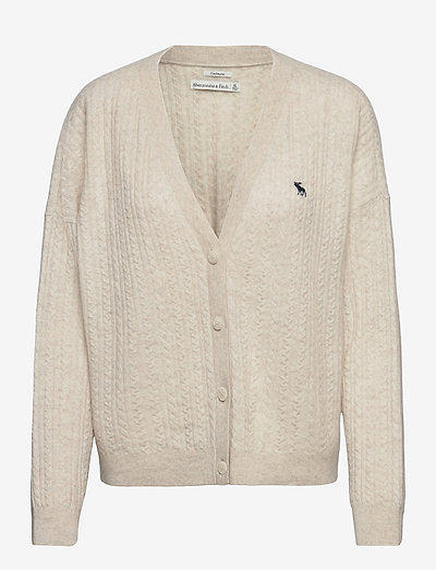 ANF WOMENS SWEATERS - cardigans - cream