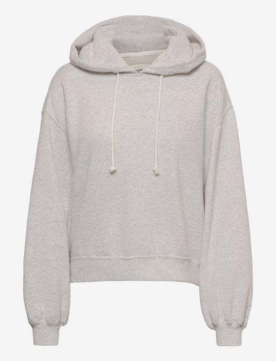 ANF WOMENS SWEATSHIRTS - hoodies - grey