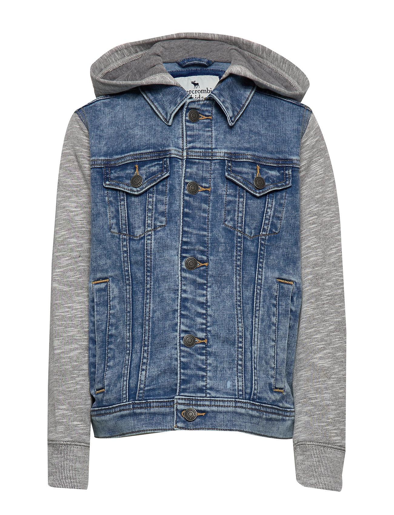 Image of Denim Outerwear Jackets & Coats Denim & Corduroy Blå Abercrombie & Fitch (3218820545)