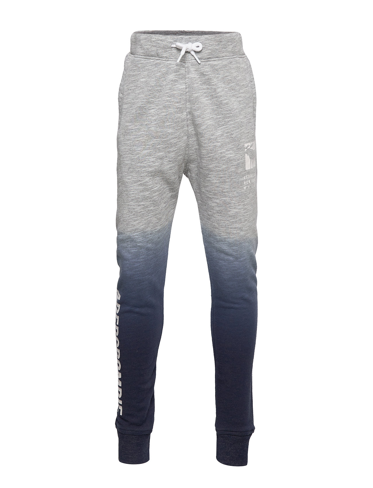 Abercrombie & Fitch Logo Jogger - MED SOLID GREY