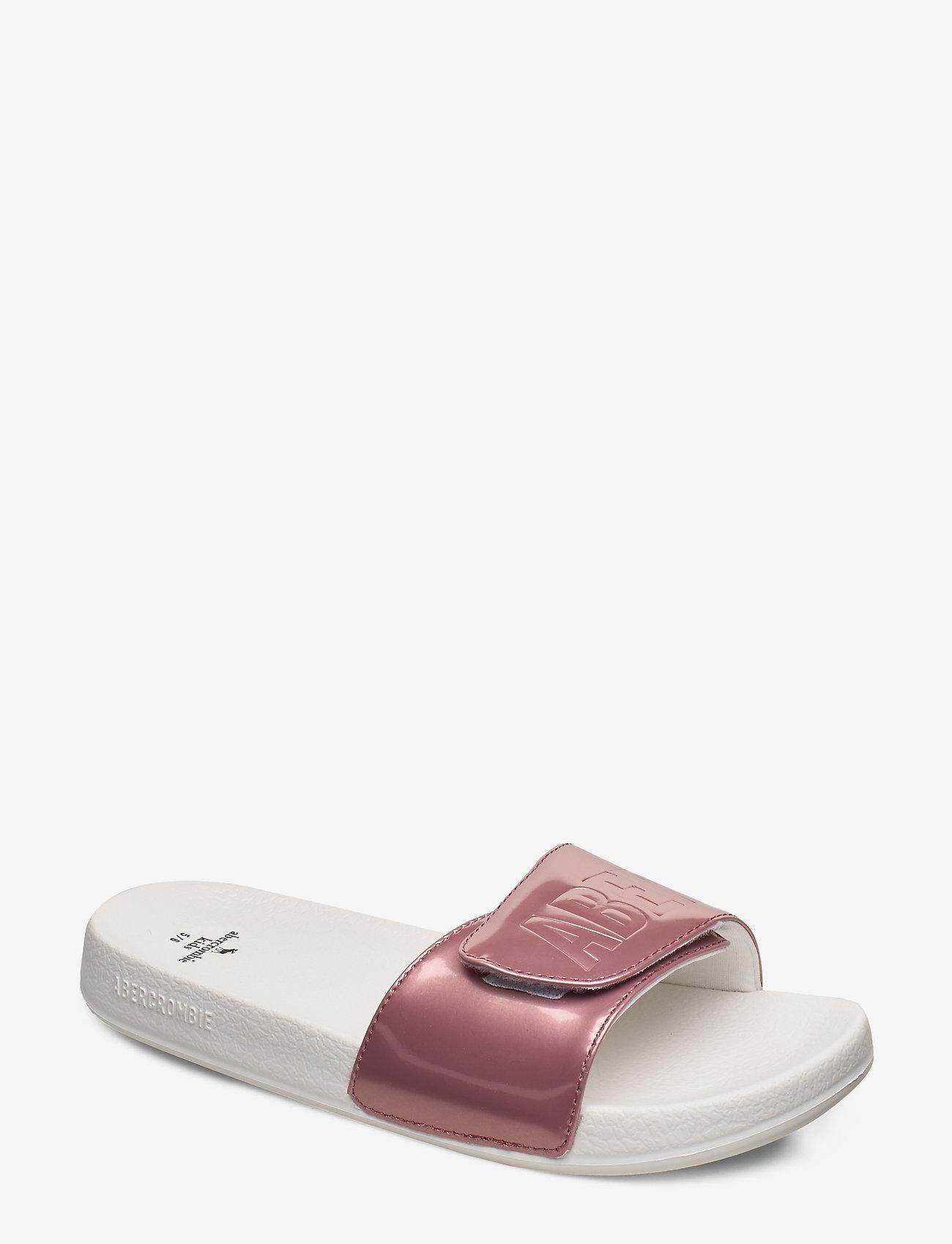 Abercrombie & Fitch - Slide Sandals - pool sliders - dark pink - 0