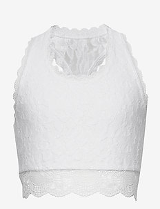 Lace Bralette - oberteile - optic white