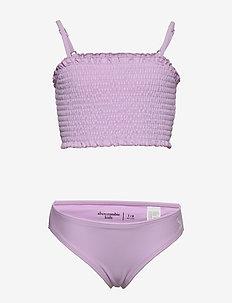 Smocked Swim - bikinis - light purple