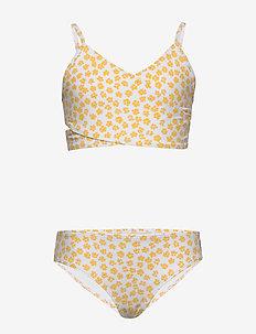 Wrap Front Swim - bikinis - white pattern