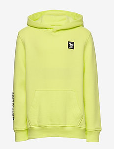 Logo Sweatshirt - kapuzenpullover - light yellow