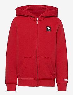 Sweatshirt - huvtröja - red