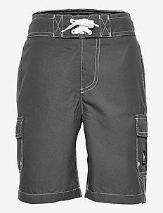 kids BOYS SWIM - shorts - med solid grey