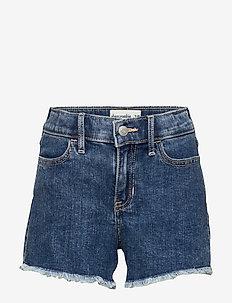 Mini Mom Belted Shorts - DARK DESTROY