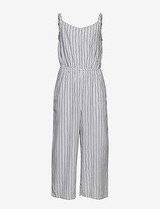 Twist Back Jumpsuit - kombinezon - navy pattern