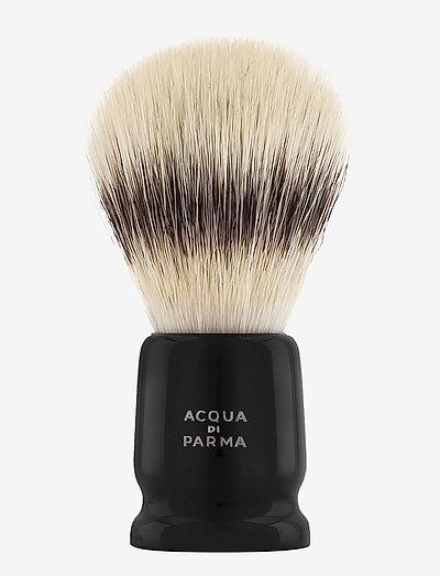 Black Travel Shaving Brush - barberkost - clear