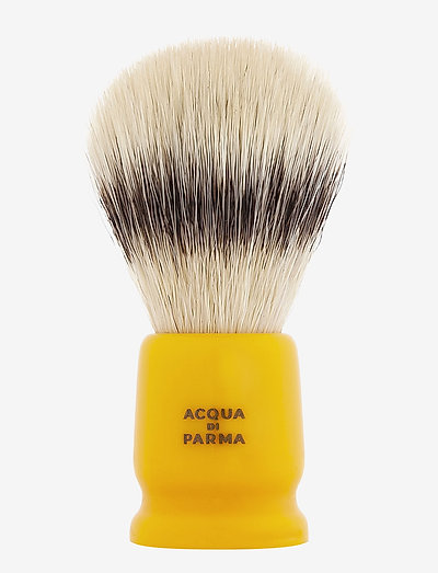 Yellow Travel Shaving Brush - barberkost - clear