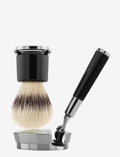 Black Razor and Brush - barberhøvel - clear