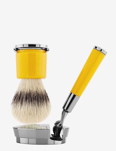 Yellow Razor and Brush - rakborste - clear