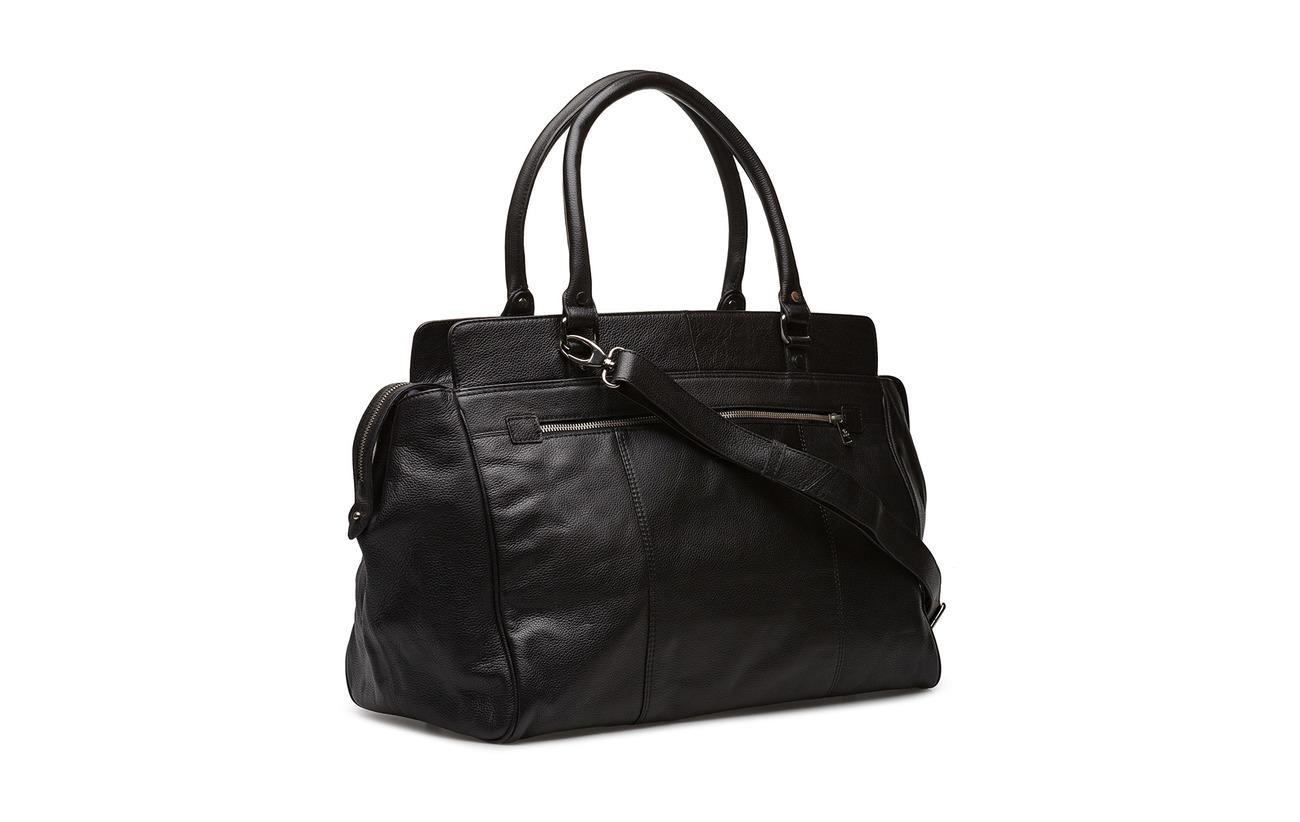 Weekend Adax Doublure Bag Peau Équipement 100 Polyester Eugen Intérieure Black De Vache Napoli 5T4qg